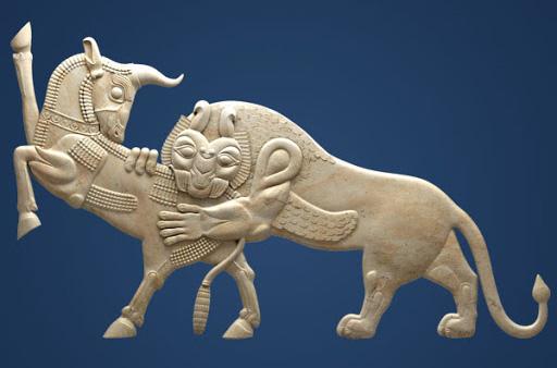 نماد شیر و گاو